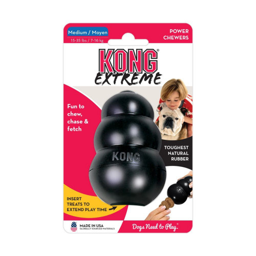 KONG Hundleksak Kong Original gummi svart Med 8,5x5,5cm