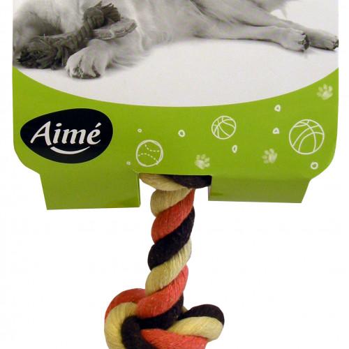 Aime Hundleksak Repknut 3-färgad Aimé 15cm