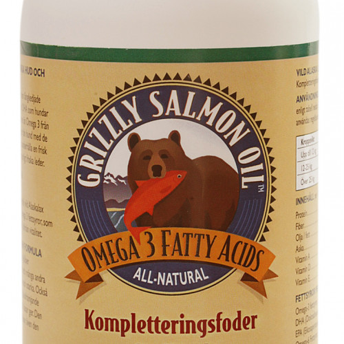 Grizzly Pet Products Fodertillskott Grizzly Laxolja 1000 ml