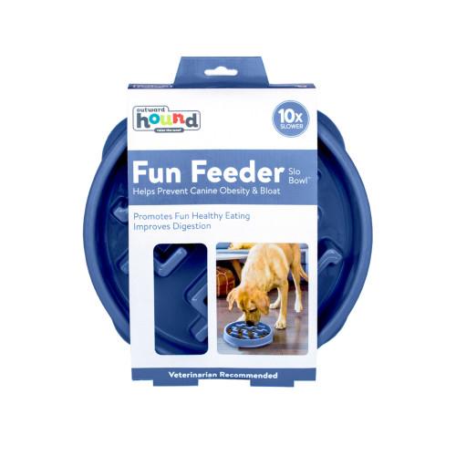 Outward Hound Outward Hound Fun Feeder Large Ljusblå 28x5 cm