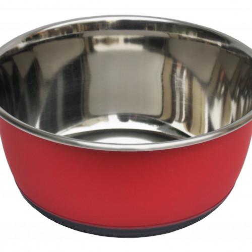 Tyrol Rostfri skål Antislip Röd 0,5 liter Tyrol