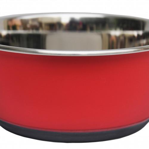 Tyrol Rostfri skål Antislip Röd 1,9 liter Tyrol