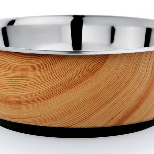 Tyrol Rostfri skål Antislip Wood 0,5 liter Tyrol