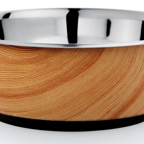 Tyrol Rostfri skål Antislip Wood 0,95 liter Tyrol