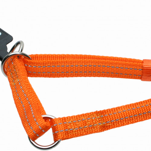 Gibbon Halvstryp nylon reflex ställbart Orange Gibbon 15mm/25-45cm