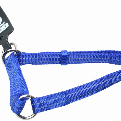 Gibbon Halvstryp nylon reflex ställbart Blått Gibbon 10mm/20-35cm