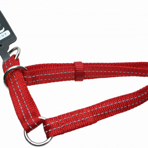 Gibbon Halvstryp nylon reflex ställbart Vinrött Gibbon 15mm/25-45cm