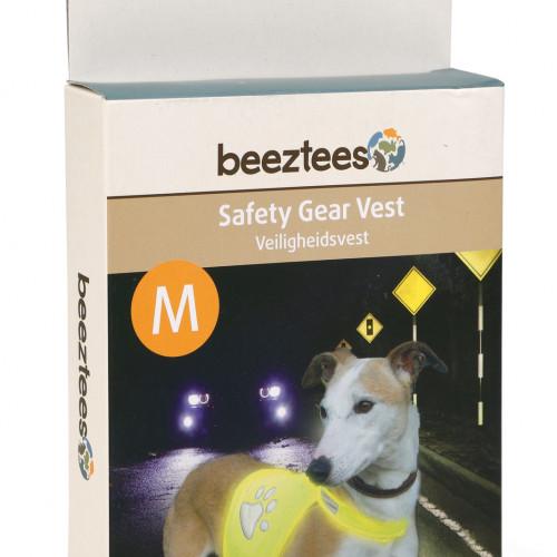 Beeztees Reflexväst gul för hund Beeztees Medium