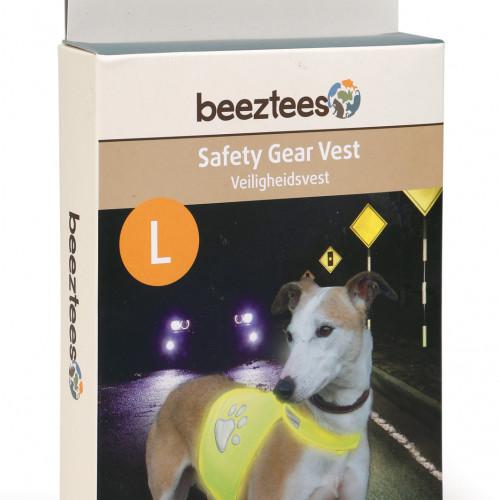 Beeztees Reflexväst gul för hund Beeztees Large