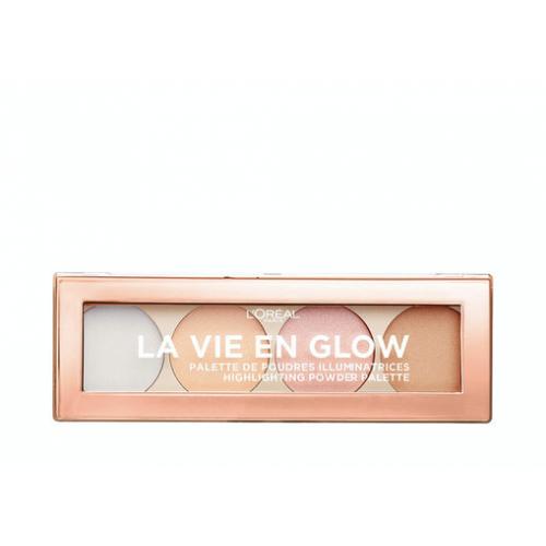 L'Oréal Paris La vie en glow highlighter palette  - 02 cool glow
