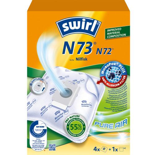 Swirl Dammsugarpåsar N73   OBS 3X4ST