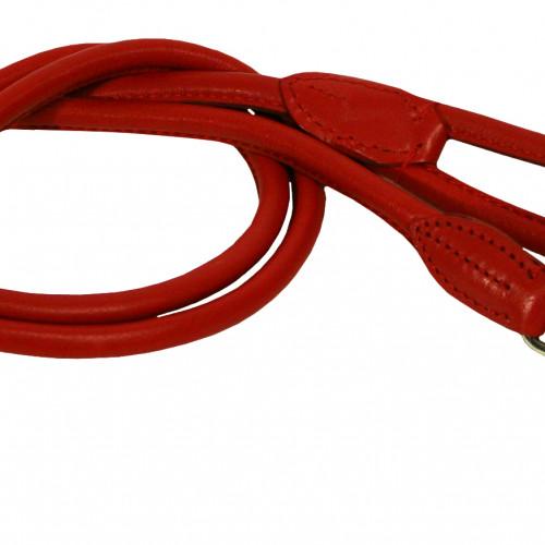 Gibbon Koppel runt mjukt  Läder Rött 6mm/180 cm