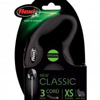 FLEXI Flexi Classic XS Snöre Svart 1-3 3m/max 8kg