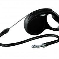 FLEXI Flexi Classic M Snöre svart 2-5 5m/max20kg