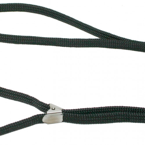 Doggyman Utställningskoppel Nylon klämspänne flätat svart 7mm/150cm
