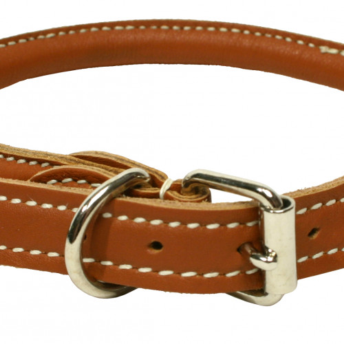 Gibbon Halsband mjukt rundsytt Brunt 6-7mm/30cm