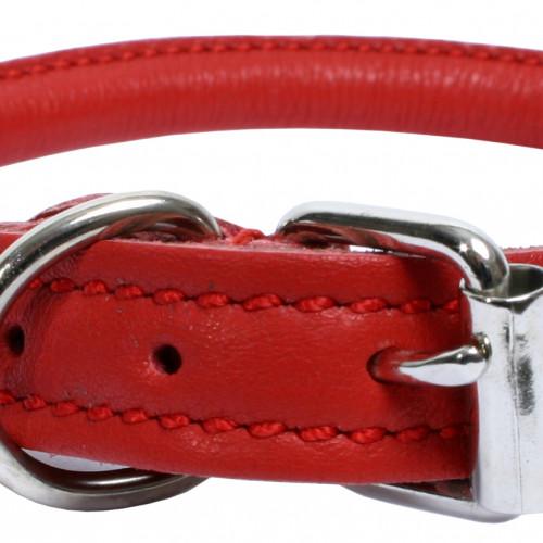Gibbon Halsband mjukt rundsytt Rött 6-7mm/30cm