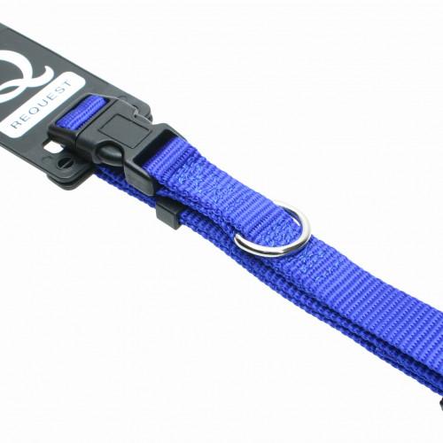 Gibbon Halsband nylon ställbart Blått Gibbon 15mm/35-45cm