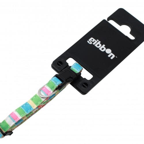 Gibbon Halsband Nylon Pastellrandigt Valp 8mm/14-23cm