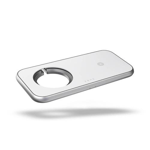 ZENS 3in1 Laddare Designad för Magsafe 10W+Plats för Magsafe + USB-A
