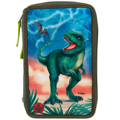 Dino World Trippelpennfodral m. LED