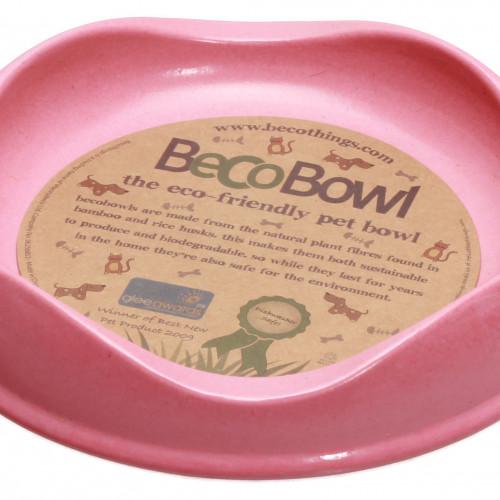 Beco Beco matskål Rosa från växtfibrer 13,6x3cm