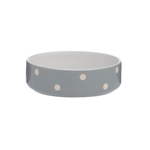 MASON CASH Keramikskål Grå/Vit prick MC d=130 h=40mm
