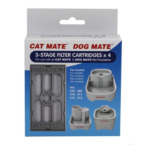 Pet Mate Filter 3-stegs Vattenautomat CatMate 4-p