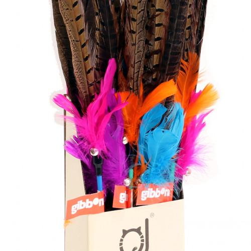 Gibbon Kattleksak Spö med långa fjädrar Gibbon 55 cm