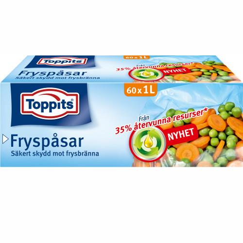 Toppits Fryspåsar 1L 60st  (Obs 9st DF