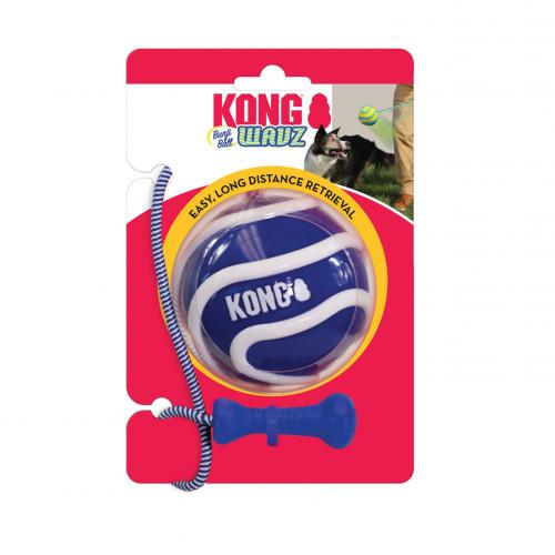 KONG Hundleksak Wavz Bunjiball Medium KONG d=6,5cm