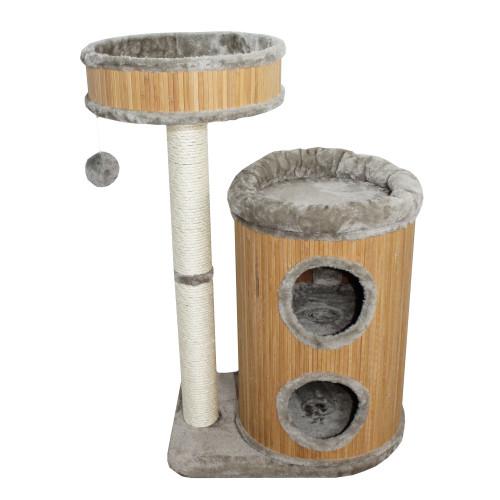 Cat-Gato Klösmöbel Bamboo V grå 85 cm