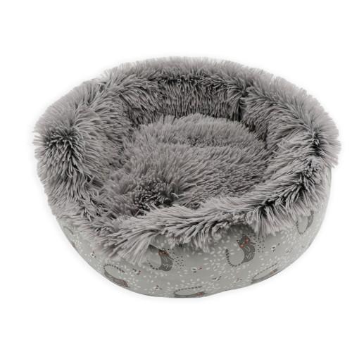 Sömn Rundbädd Mistigri grå Aimé 45x45x12 cm