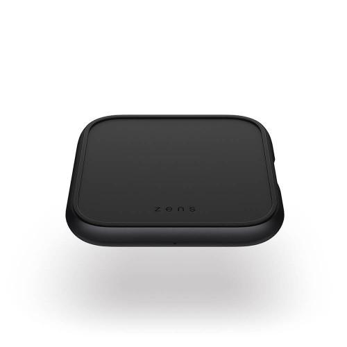 ZENS Single Alu. QI Laddare + USB-A out 10W inkl 18W USB-C PD Svart