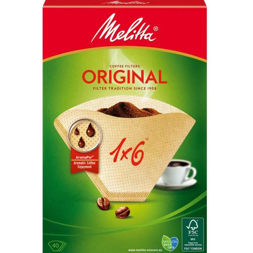 Melitta Kaffefilter 1X6 40pack (Obs 8