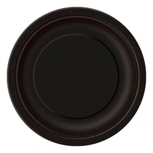 Papperstallrikar Svarta