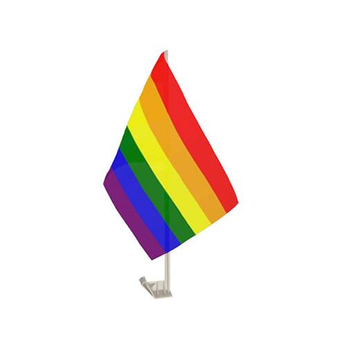 Bilflagga Regnbåge - 2-pack