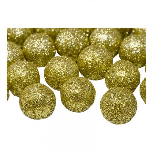 Glitterbollar Guld - 25-pack