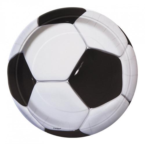 Papperstallrikar Fotboll - 8-pack