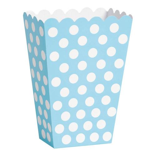 Popcornbägare Ljusblå Prickiga - 8-pack