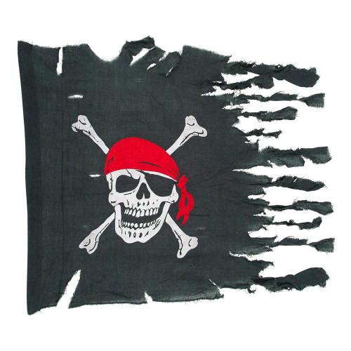 Vädersliten Piratflagga