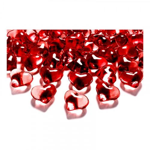 Kristallhjärtan Röda - 21 mm