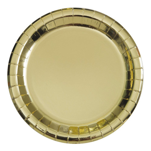 Pappersassietter Guld Metallic - 8-pack