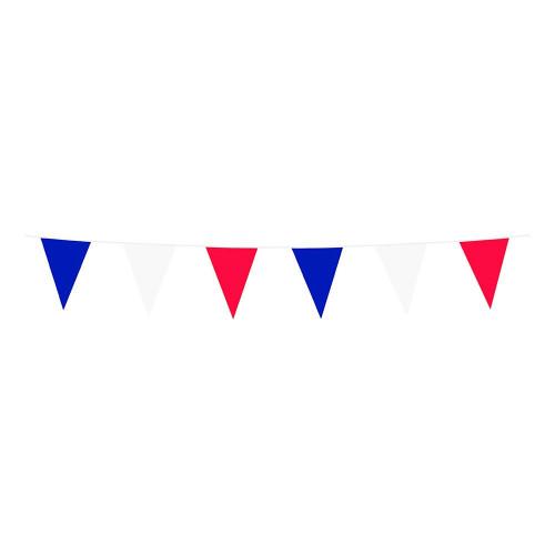 Flaggirlang Röd/Blå/Vit