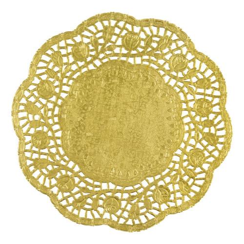 Tårtunderlägg Runda Guld - 4-pack
