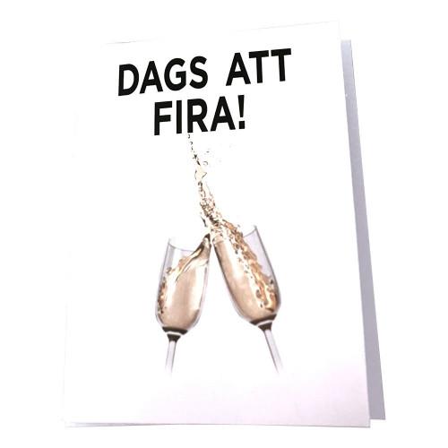 Kort Dags Att Fira Champagneglas - 9.7x13.3cm