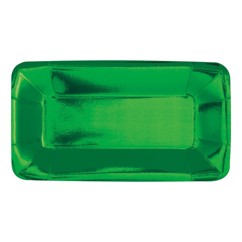 Serveringsfat Rektangel Grön Metallic - 8-pack