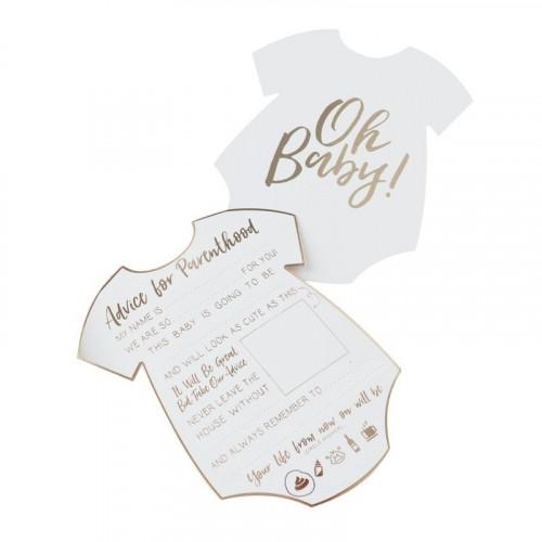 Baby Shower Kort Advice For Parenthood - 10-pack