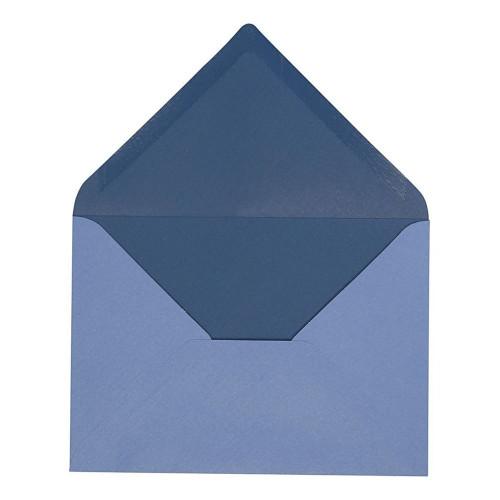 Kuvert Ljusblå/Mörkblå - 10-pack