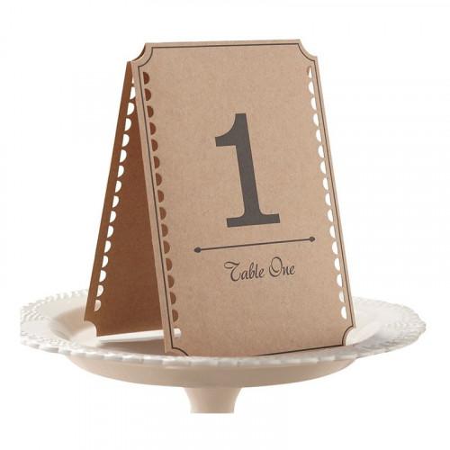 Bordskort med Siffra - 12-pack
